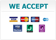 We Accept The Following